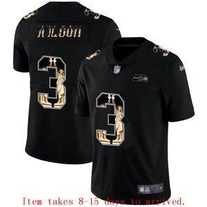 Seattle Seahawks Russell Wilson Jersey Black